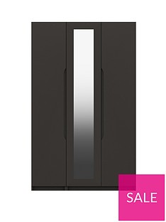 monaco-part-assembled-high-gloss-3-door-mirrored-wardrobe
