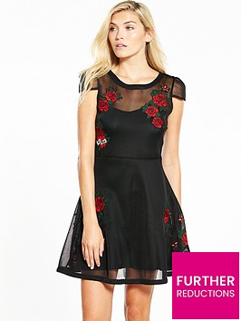 guess-roses-dress