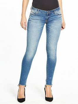 Guess Beverly Skinny Jean With Raw Hem