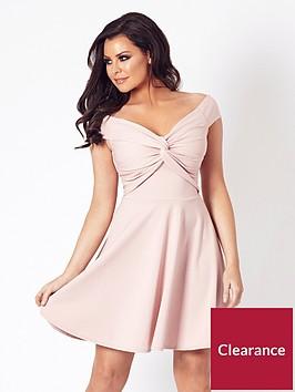 jessica-wright-thalia-bardot-skater-dress-pink