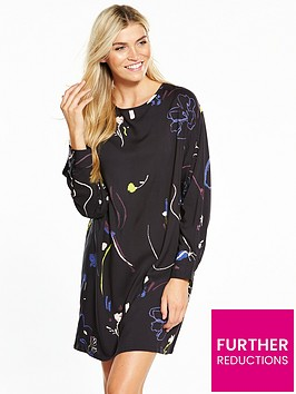 native-youth-printed-wide-sleeve-dress