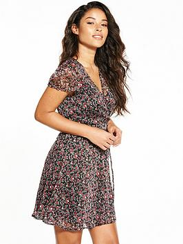 Fashion Union Sheer Flirty Floral Dress