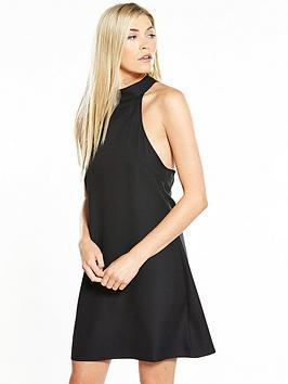 Fashion Union Lavelle Mini Lace Back Dress - Black