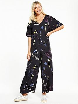 native-youth-printed-grown-on-sleeve-jumpsuit