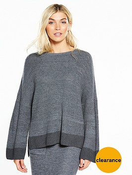 native-youth-native-youth-ribbed-knit-with-side-splits