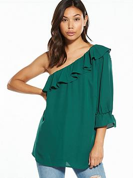 Fashion Union Yevelyn One Shoulder Blouse
