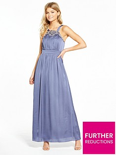 little-mistress-petite-satin-trim-maxi-dress-grey