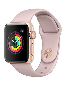 Apple Watch Series 3 (GPS), 38mm Gold Aluminium Case with Pink Sand Sport Band