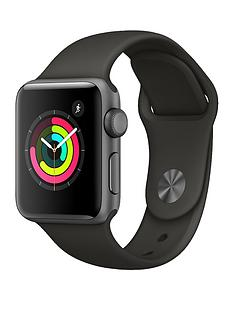 Apple Watch Series 3 (GPS), 38mm Space Grey Aluminium Case with Grey Sport Band