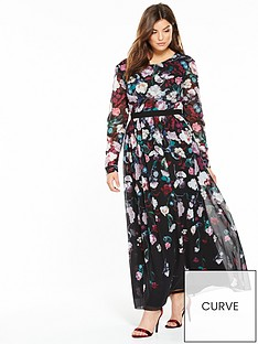 little-mistress-curve-floral-maxi-dress