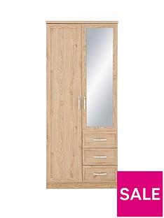 Camberley 2 Door, 3 Drawer Mirrored Wardrobe