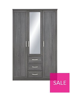 camberley-3-door-3-drawer-mirrored-wardrobenbsp