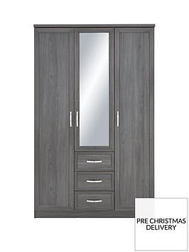 camberley-3-door-3-drawer-mirrored-wardrobenbsp