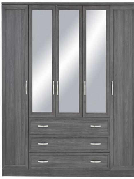 camberley-5-door-3-drawer-mirrored-wardrobe