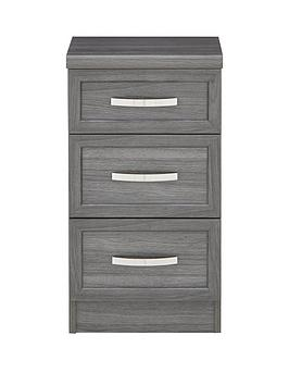 Camberley 3 Drawer Graduated Bedside Chest thumbnail