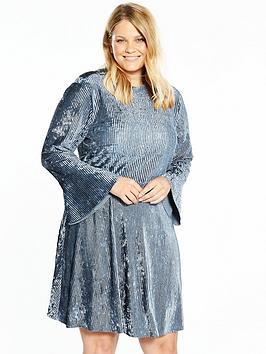 elvi-ribbed-velvet-dress-blue