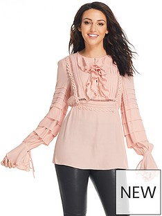 michelle-keegan-tiered-sleeve-detail-ruffle-blousenbsp