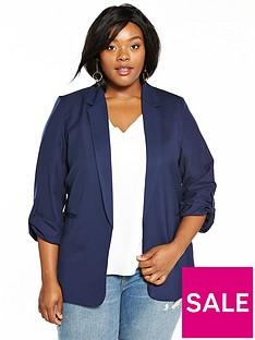 fashion-union-curve-ruchednbspsleeve-blazer