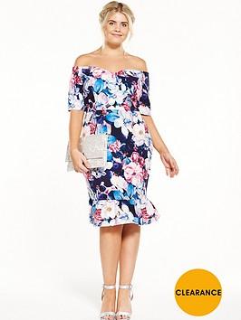 paper-dolls-curve-bardot-printed-pencil-dress