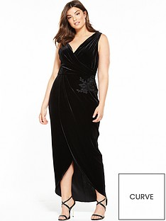 little-mistress-curve-wrap-dress-blacknbsp