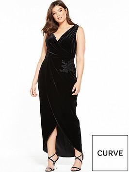 little-mistress-curve-wrap-dress-blacknbsp