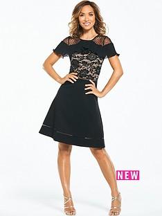 lace-skater-dress-black