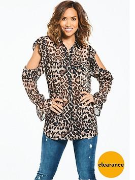 myleene-klass-cold-shoulder-leopard-print-blouse