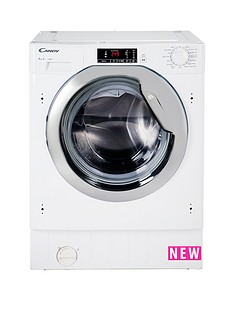 Candy CBWM814DC 8kg Load, 1400 Spin Fully Integrated Washing Machine - White