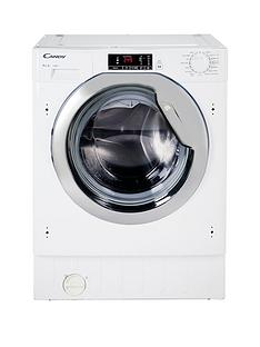 Candy CBWM814DC 8kg Load, 1400 Spin Integrated Washing Machine - White