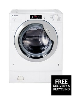 Candy CBWM814DC 8kg Load, 1400 Spin Integrated Washing Machine - White Best Price, Cheapest Prices
