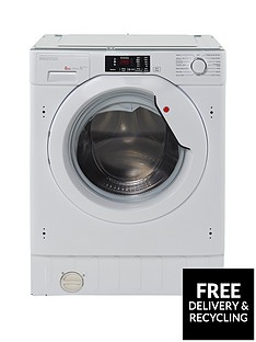 Hoover HBWM814D 8kg Load, 1400 Spin Fully Integrated Washing Machine - White