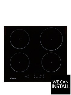 candy-ci640cb-60cm-built-in-touch-control-induction-hob-with-optional-installationnbsp--black