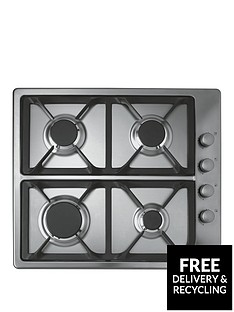 hoover-hgl64scx-60cmnbspbuilt-in-gas-hob-stainless-steel
