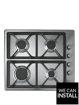 hoover-hgl64scx-60cmnbspbuilt-in-gas-hob-with-optional-installation-stainless-steel