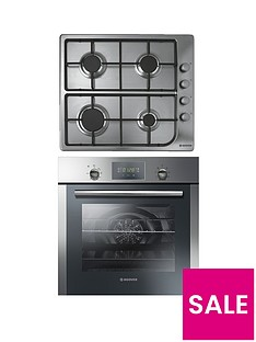 hoover-hprgm7-60cm-built-in-electric-single-oven-and-gas-hob-pack-stainless-steel