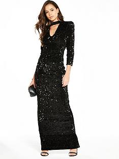 v-by-very-choker-sequin-maxi-dress