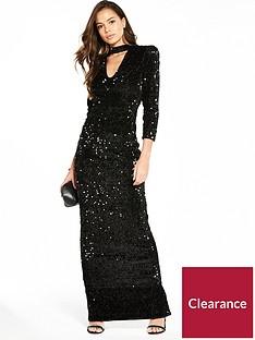 v-by-very-choker-sequin-maxi-dress
