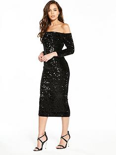 v-by-very-sequin-bardotnbspbodycon-dress
