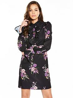 v-by-very-printed-frill-front-shirt-dress