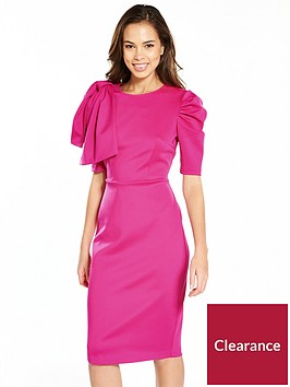 v-by-very-bow-shoulder-scuba-pencil-dress-pink