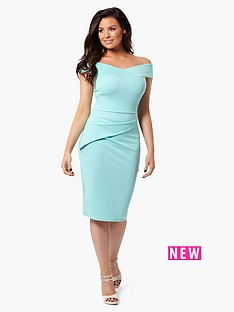 jessica-wright-vinnie-bardot-midi-dress-mint