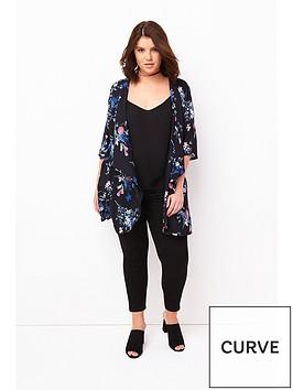 girls-on-film-curve-flare-sleeve-kimono-black-floral