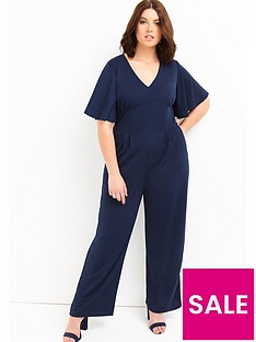 girls-on-film-curve-flare-sleeve-jumpsuit-navy