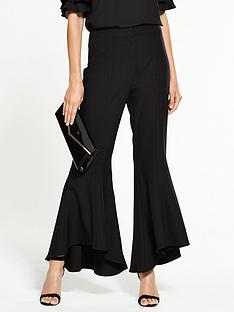 v-by-very-flared-hem-trouser-black