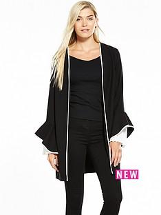 v-by-very-pleated-sleeve-soft-longerline-jacket-black