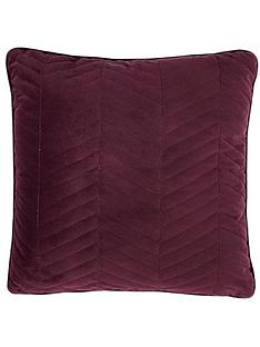 ideal-home-quilted-velvet-cushion