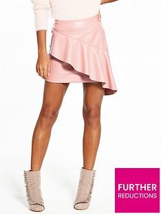 v-by-very-frill-pu-mini-skirt