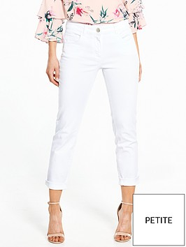 wallis-petite-roll-up-twill-trouser