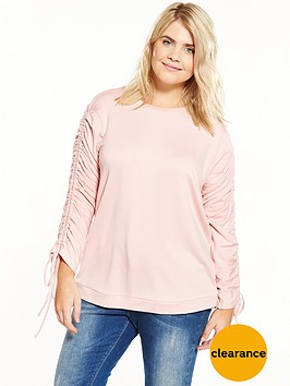 v-by-very-curve-ruched-sleeve-sweat