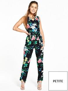 wallis-petite-tropical-floral-jumpsuit